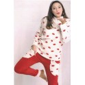 Pigiama donna MILKYMILLA 593 in coral fleece