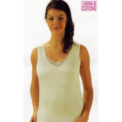 Canotta donna NOVENOVE 151 lana-cotone